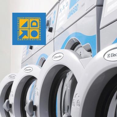 세탁 업계 유일무이한 HACCP(해썹) 인증 완료한 워시엔조이 세탁장비